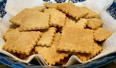 ALMOND THINS - 1 carb for 8 crackers! They are much sturdier than you would expect. Wonderful with cheese, strong enough for a dip, and yet, they taste incredible all by themselves. Just like the Lay's potato chips of old--bet you can't eat just one!