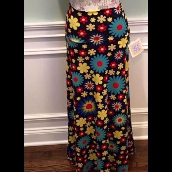 LuLaRoe Maxi Skirt Size Small NWT, Size Small Maxi, Black with floral print LuLaRoe Skirts Maxi