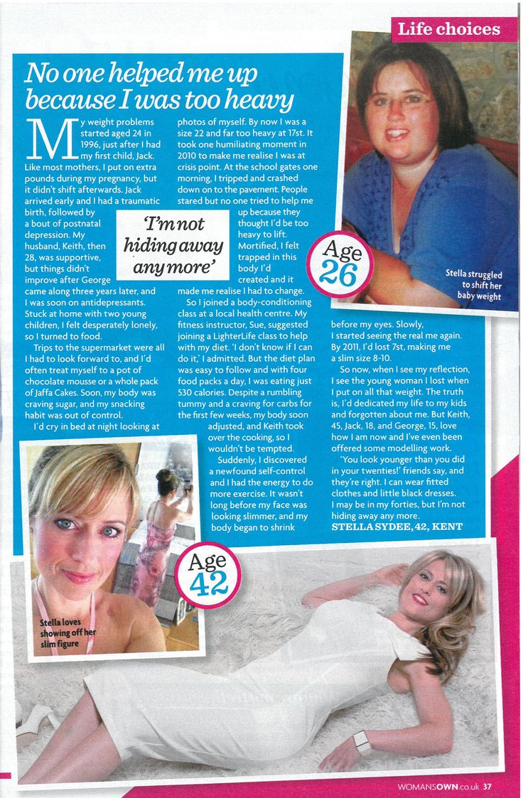 How fabulous does LighterLifer Stella Sydee look in the latest issue of Woman's Own?! Stella lost 4st 4lbs in just 4 months and will be in the next issue of LighterLife magazine, out in August!