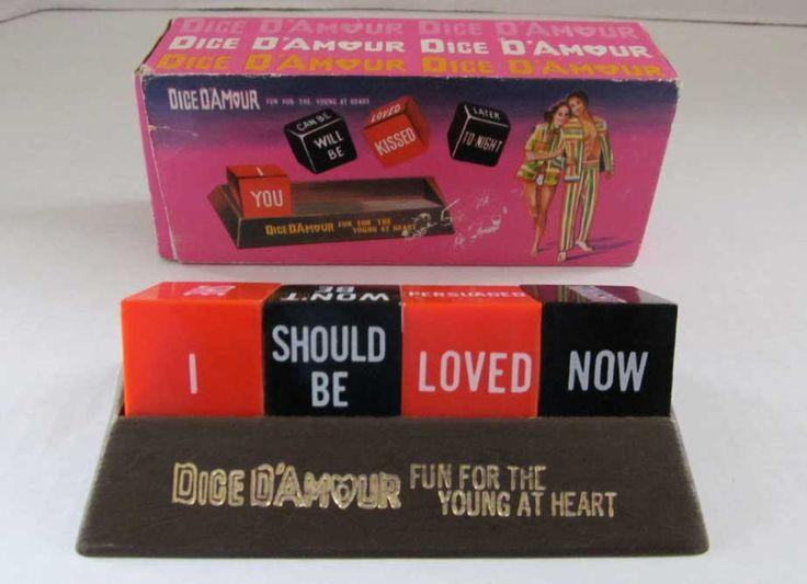 Love Dice Vintage Novelty Adult Couples Game Boxed 1970s Dice D'Amour Made in Hong Kong Bedroom Messages Mood Communication by DesignsFindsKC on Etsy