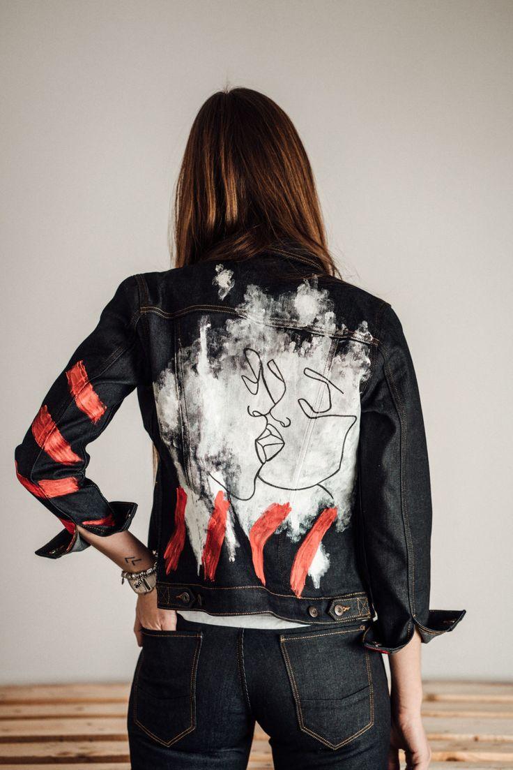 Fashion DIY / Denim DIY Projekt / diy Kleidung verschönern / diy Jeans / do it yourself / diy jeansjacke / diy Jeans jacket / whaelse.com