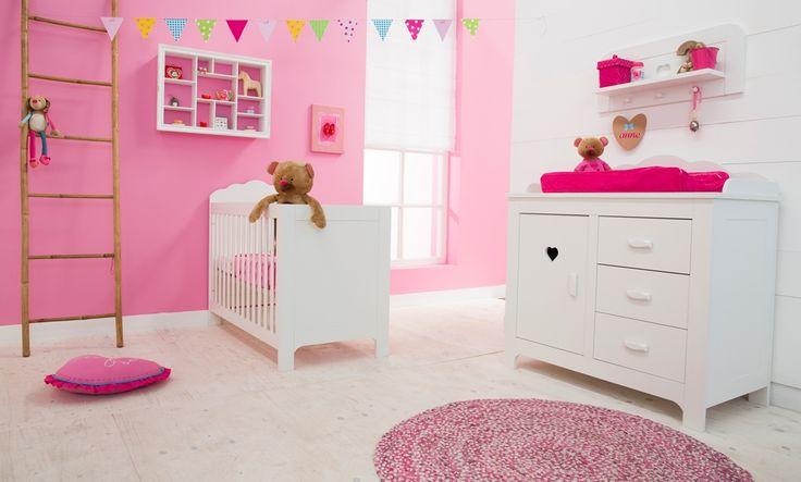 lief! lifestyle meisjes kamer : ledikant, commode en wandplank wit met ...