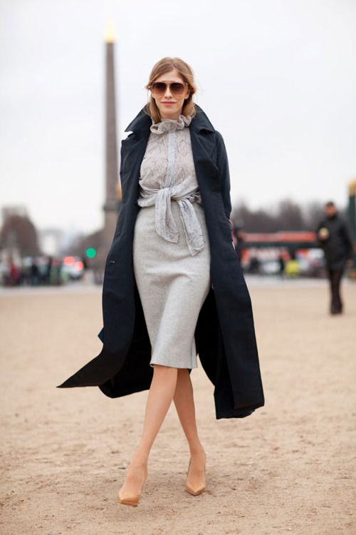 Image Via: A Feminine TomboyNude Shoes, Street Style, Outfit, Feminine Tomboys, Work Wear, Paris Fashion Weeks, Summer Girls, Pencil Skirts