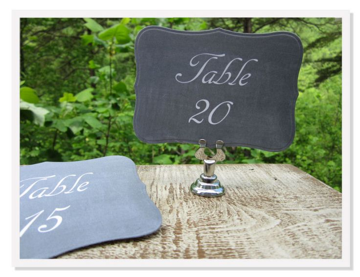 12 Printed Chalkboard Table Numbers Wedding Table by greenridge, $7.29