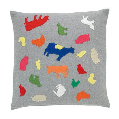 Fuzzy Farm Cushion