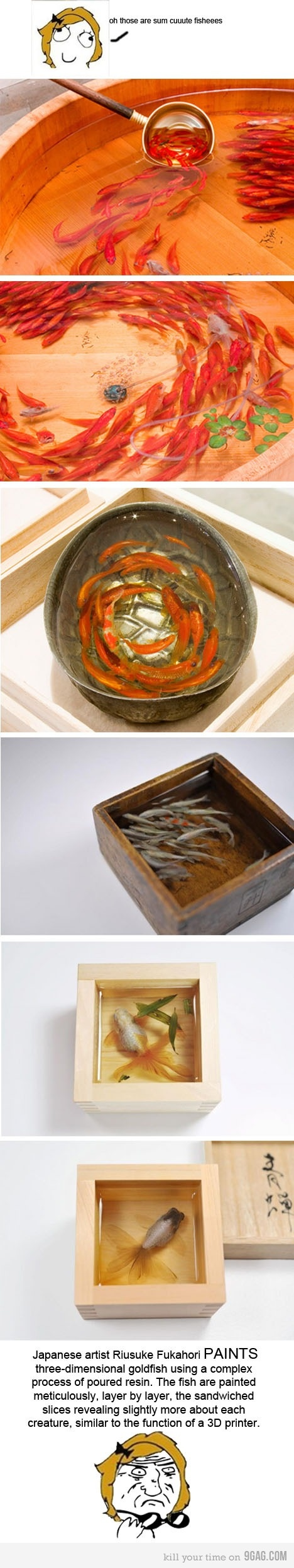 Best Art Resin Painting Images On Pinterest Artists Art - Incredible 3d goldfish drawings using resin