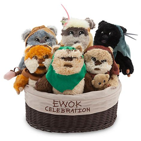 Ewok Celebration Limited Edition Plush Set - Star Wars - Small - 9''