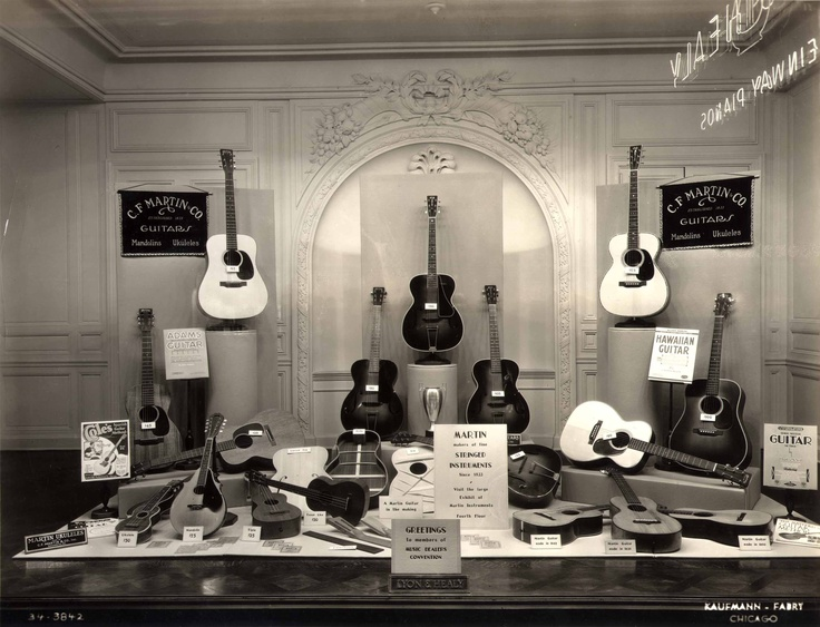 Martin Guitars on display at Lyon Healy