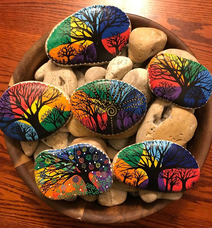Рисунки на камни своими руками индивидуальные красивые