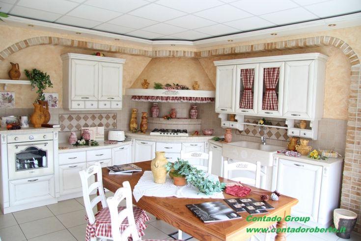 Cucina in Muratura Provenzale | Contado Roberto Group | Cucine e arredamenti su misura in legno