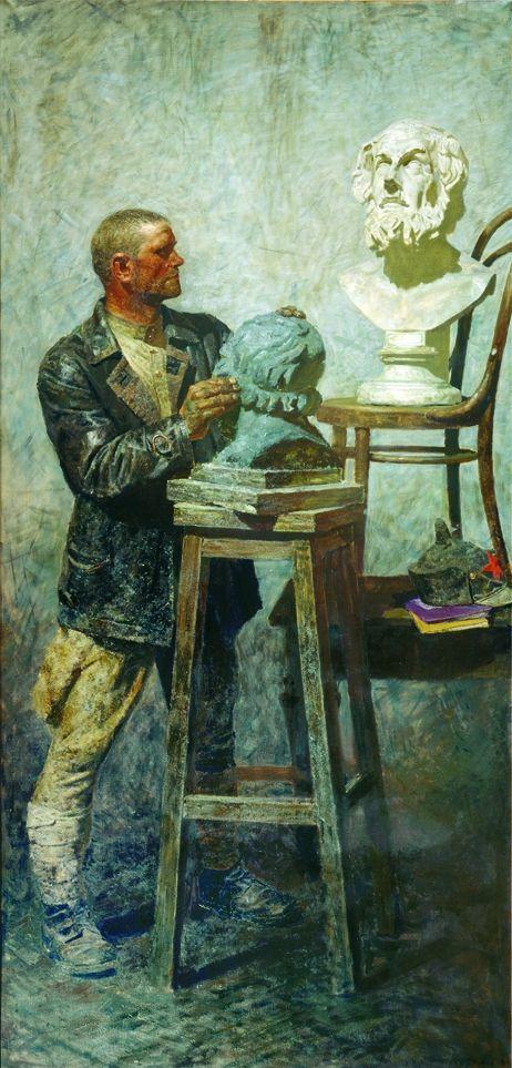 Фонд Гелия Коржева Триптих «Коммунисты: Гомер» (Рабочая студия), 290×140 см