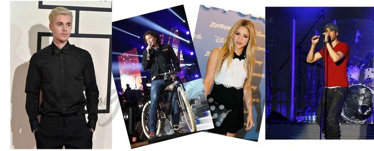 Shakira y Carlos Vives, Enrique Iglesias, y Justin Bieber con Major Lazer, elige la canción del verano