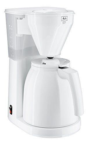 Melitta wh Easy Therm- Cafetière Filtre- Verseuse isotherme- système anti-goutte- support Filtre Amovible: Réveillez-vous avec une tasse de…