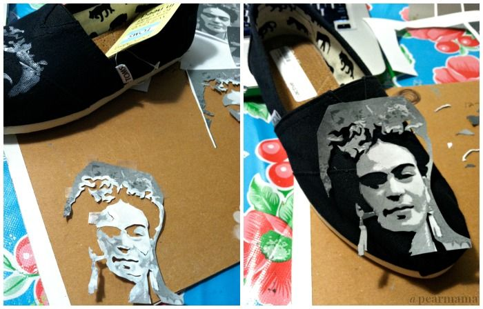 Paint Your Own Frida Kahlo TOMS shoes - Pearmama