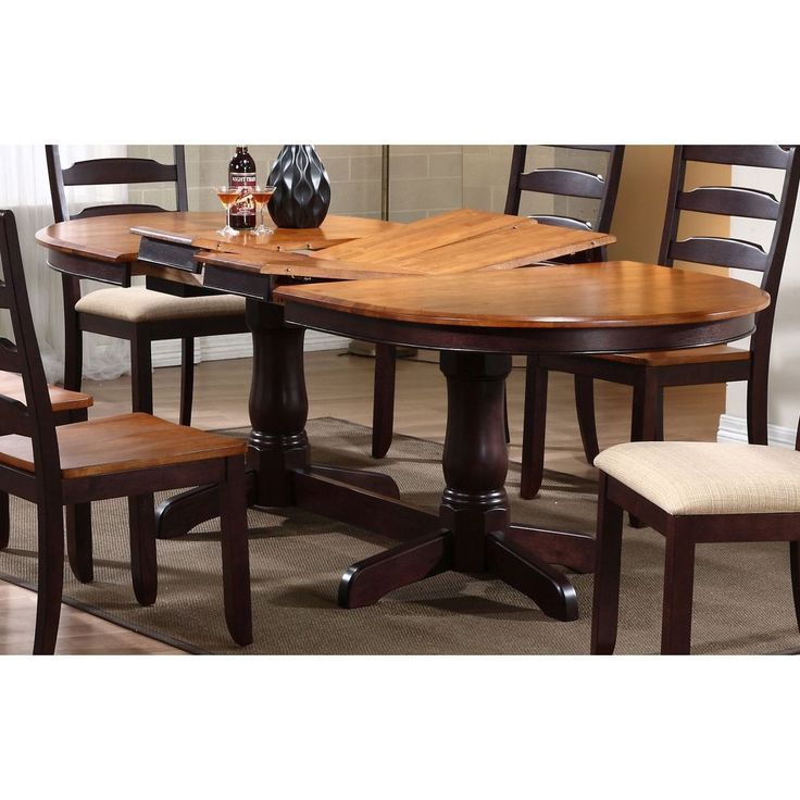 Iconic Furniture Whiskey/ Mocha Oval Dining Table (Oval table, whiskey/mocha), Multi