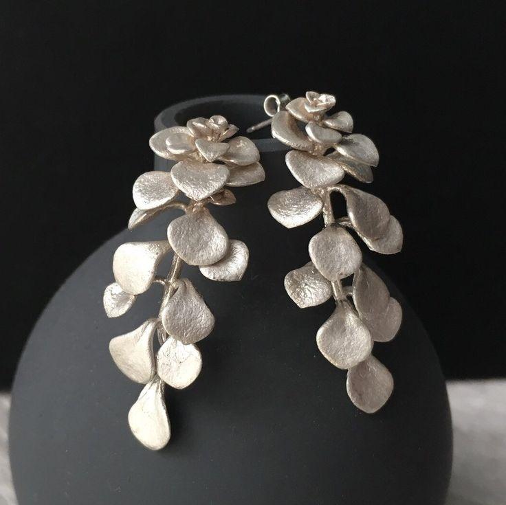 Brand new!!! Long succulent earrings in Sterling silver!!