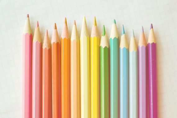 Over the rainbow  Colored Pencils fine art by PinkPinkPeony, $8.00
