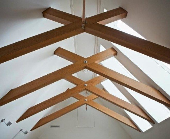 Modern Neutral Living Room with Steel Trusses | Spanish ... |Modern Wood Trusses