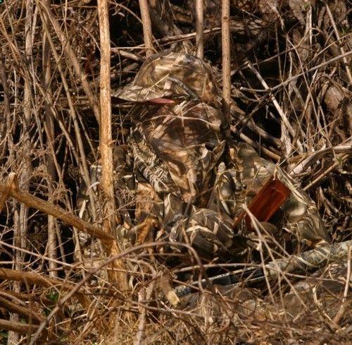 Turkey hunting with a box call. Nice camo