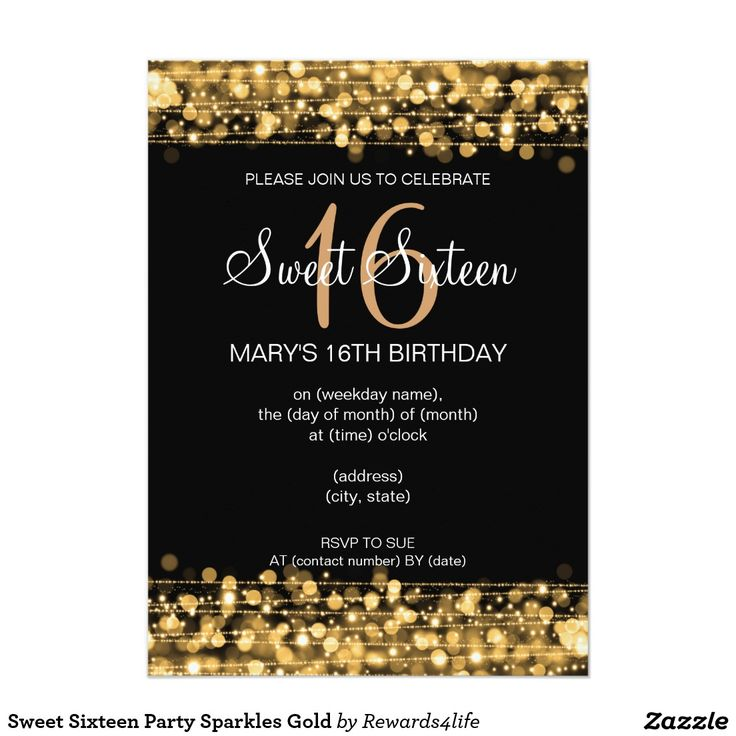 30 best GLITTER SWEET SIXTEEN Invitations images on Pinterest ...