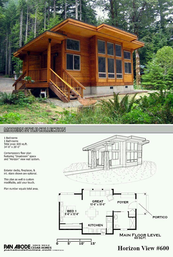 Image Result For Modern Cabin Plans Small Modern House Plans