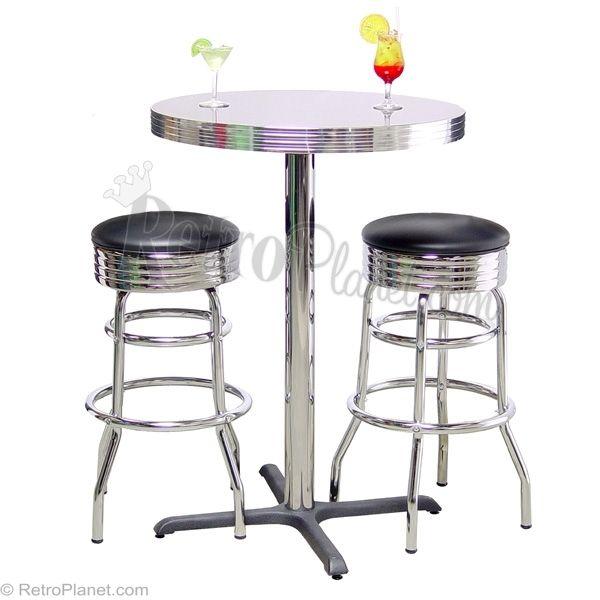 Pub Table Bar Stool Set Boomerang Formica