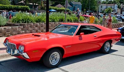 1972 Ford Grand Torino muscle car