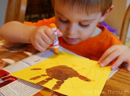 Decorating Turkey Handprints