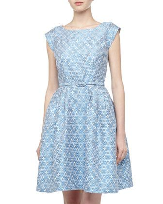 Zimmermann light blue valiant brocade dress images