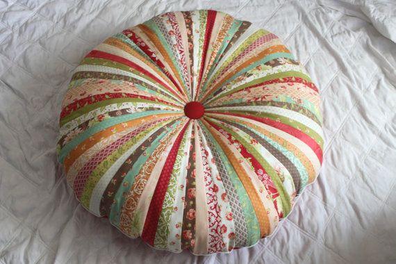 Jellyroll Floor Cushion HoneySweet by sydandstitch on Etsy