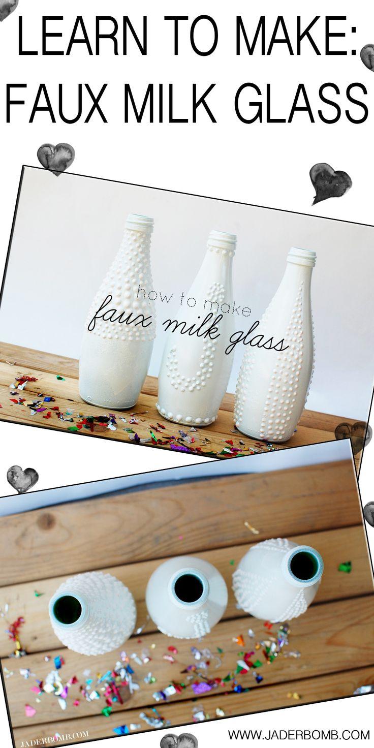 How to make faux milk glass : Tutorial  www.jaderbomb.com