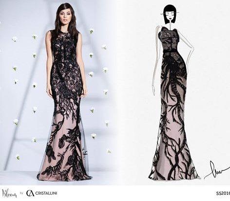CRISTALLINI #sketch #fashion #eveningdress