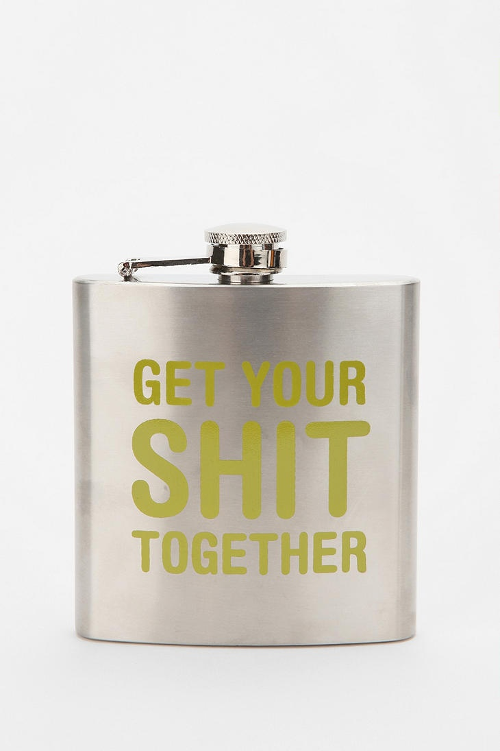 this was obviously made for me.Urbanoutfitters, Shit Together, Urban Outfitters, Flasks Reminder, Funny Stuff, Things, Drinks, Christmas Gift, Christmas Ideas