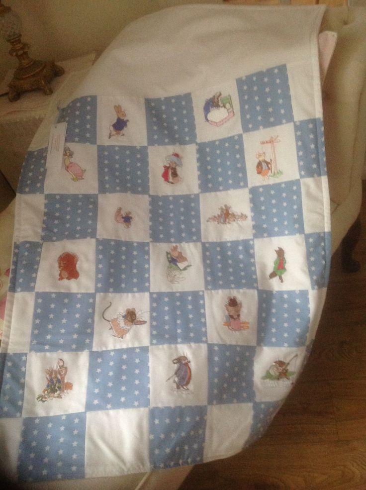 19 best BEATRIX POTTER - PETER RABBIT NURSERY images on Pinterest : peter rabbit baby quilt - Adamdwight.com