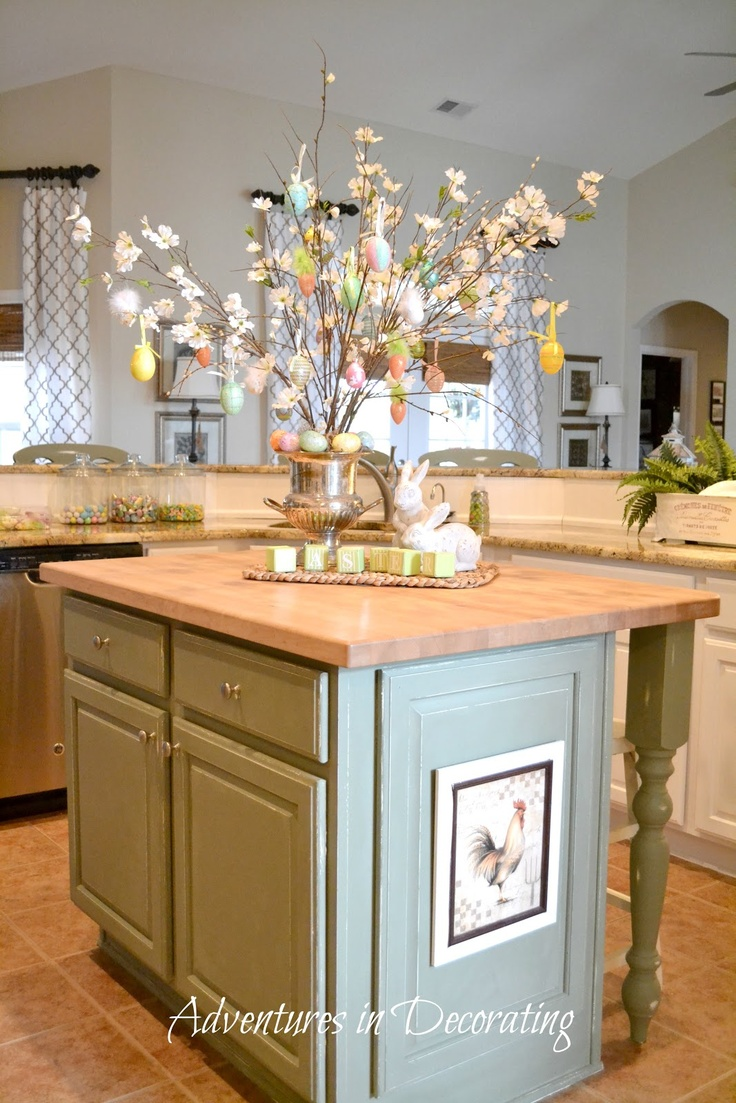 Best Kitchen Island Images On Pinterest Kitchen Ideas - Kitchen island decor ideas