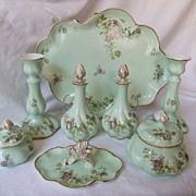 Antique Limoges Porcelain Dresser Set 1890 1910