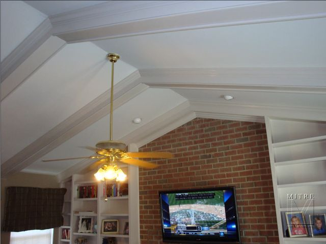 White Ceiling Beams Crown Molding Trim Pinterest