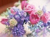 水色、ライラック、ローズピンクなど、清楚で明るい色がおすすめ