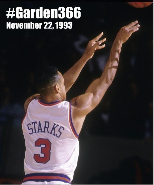 #Garden366 Moment - 11/22/1993 - NY Knicks John Starks nails 7 3-pointers in a half vs. Heat