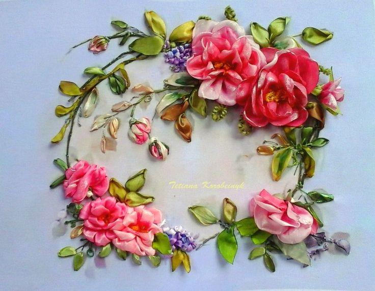 """Weiteres - Ricamo """"Vintage roses"""", Silk ribbon embroidery, - ein Designerstück von SilkRibbonEmbroidery bei DaWanda"""