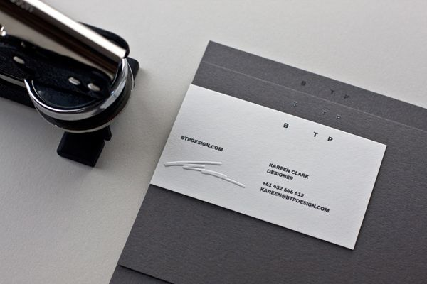 Logo and stationery with blind embossed detail designed by BTP.