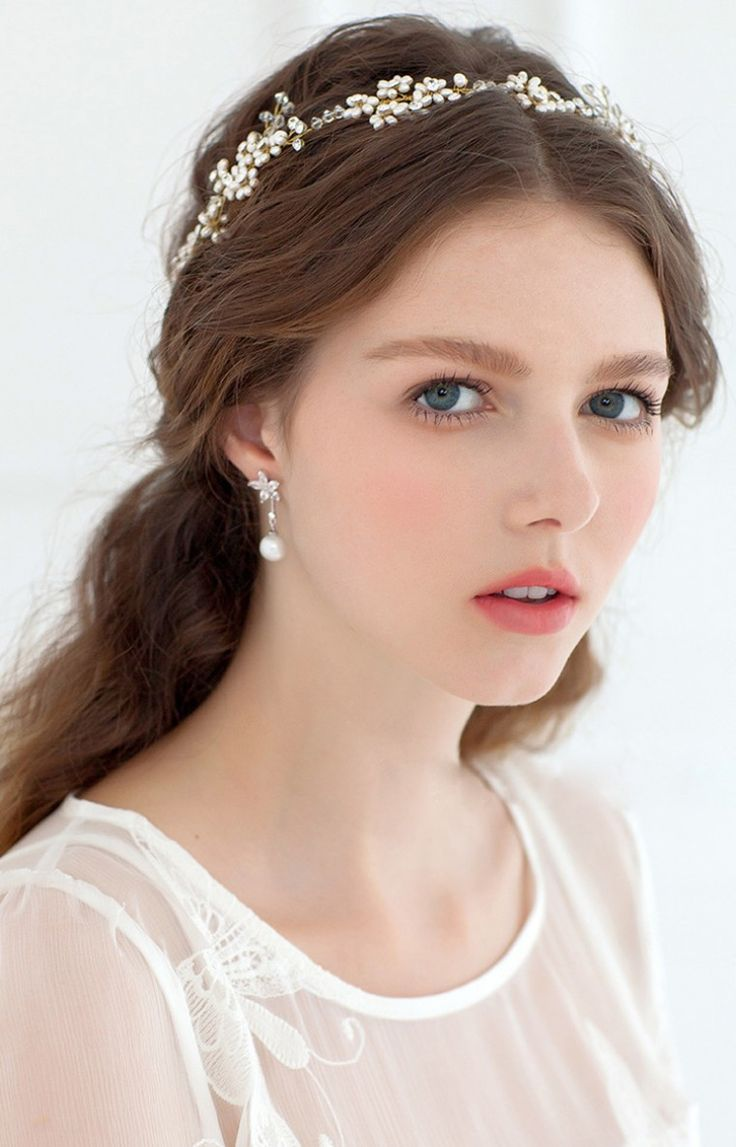 髪飾り 花冠 ハナカムリ パール クリスタル HP15068