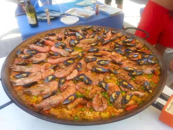 La stupenda Paella dei nostri amici Antonella e Pietro Valdonio!!!