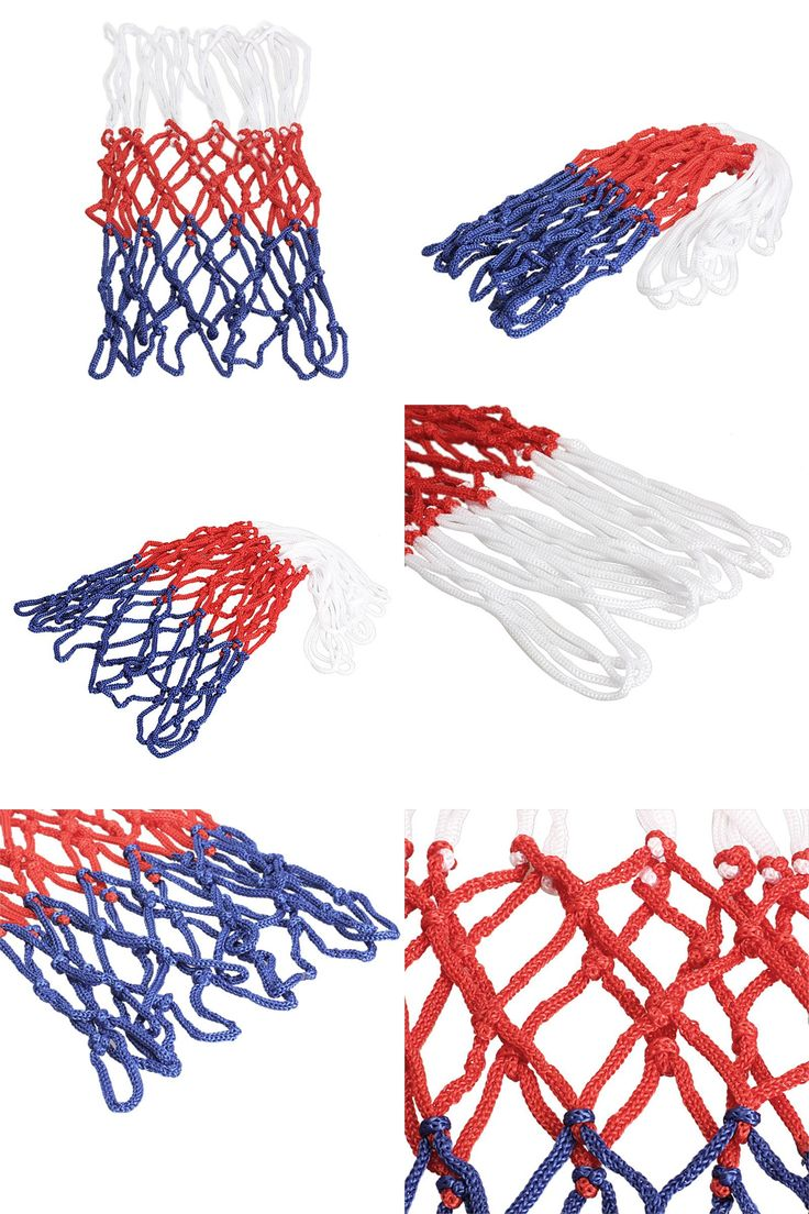 [Visit to Buy] thick 5mm Red White Blue Basketball Net Nylon Hoop Goal Rim Mesh Net High Quality Basketball Rim Mesh Net  #Advertisement