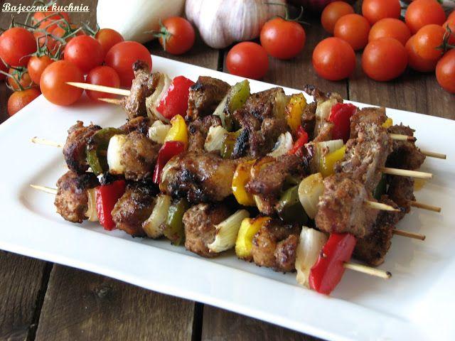 Bajeczna Kuchnia: Kolorowe szaszłyki z grilla