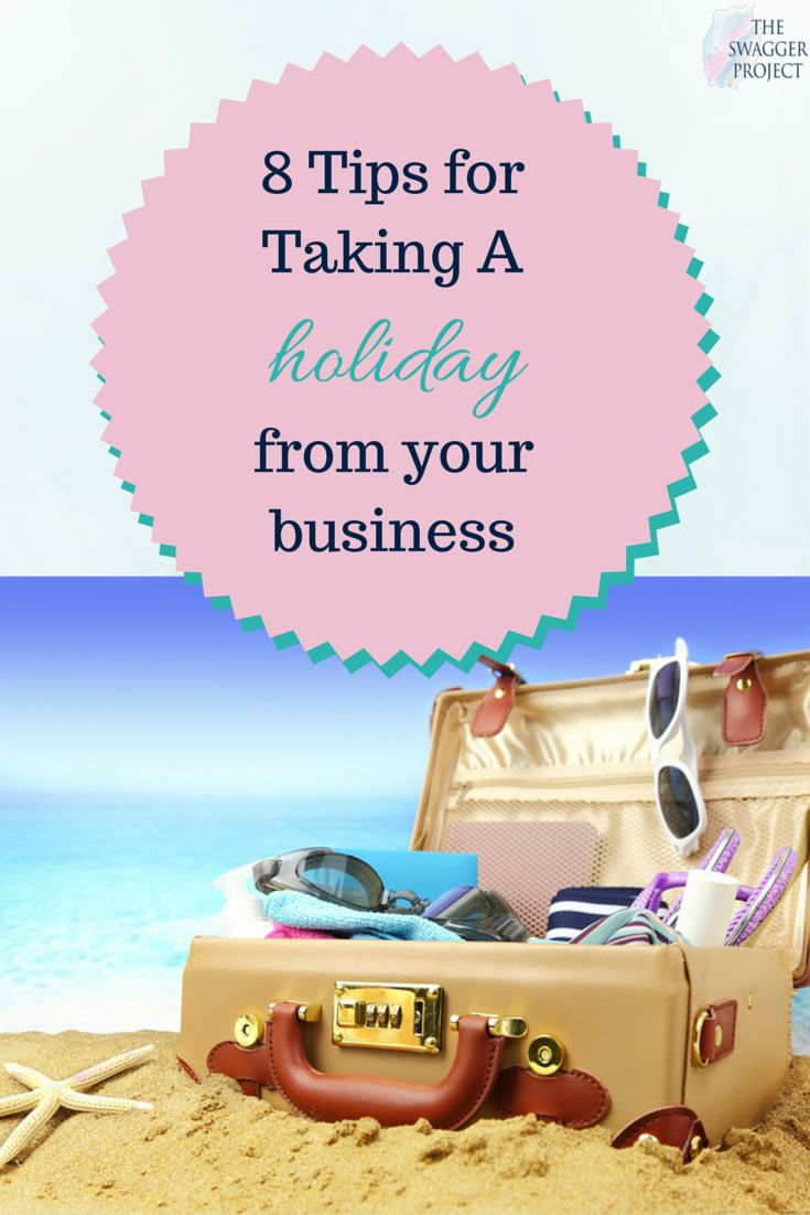 Scared to take a holiday? Here are @MichaelaClark's 8 tips to take a break from your business.