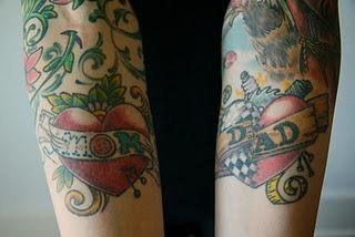 awesome Mom & Dad tattoos!