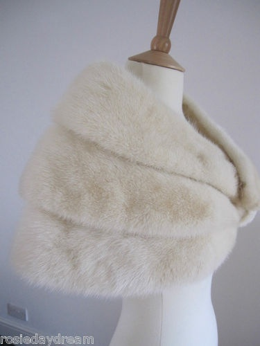 ivory fur stole (but in faux fur!) because the air is still chilly in March :)