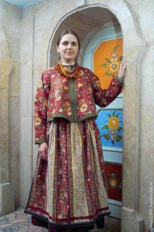 Купить Костюм русских старожилов Западной Сибири. - одежда для женщин, передник, юбка, рубаха