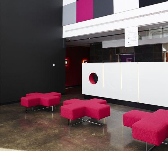 LEMAYMICHAUD | ALT | Halifax | Architecture | Design | Hospitality | Hotel | Lobby | Reception | Seating | Hot Pink